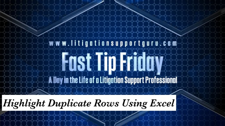 FTF-Highlight-Duplicate-Rows-Using-Excel