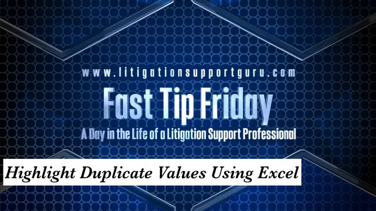 FTF-Highlight-Duplicate-Values-Using-Excel