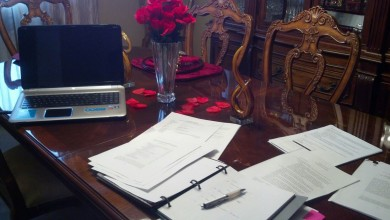 Catherine Hawes studying Valentines day