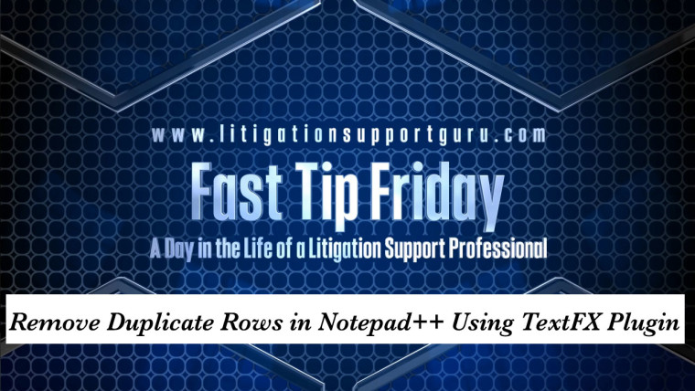 FTF-Remove-Duplicate-Rows-in-Notepad++-Using-TextFX-Plugin