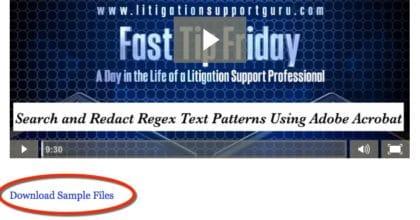 FTF playlist download sample files link